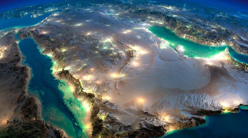 ערים מוארות בלילה, חצי האי ערב